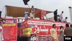 پشاور میں پشتون تحفظ تحریک کا جلسہ، اپریل 2018