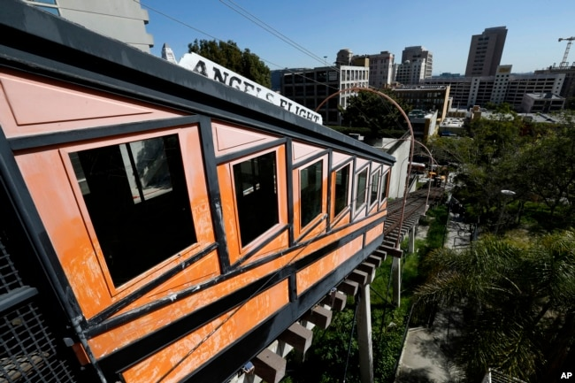 Angels Flight railway is seen in the Bunker Hill section of Los Angeles, California, March 1, 2017.
