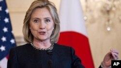 Sakatariyar harkoin wajen Amurka, Hillary Clinton.