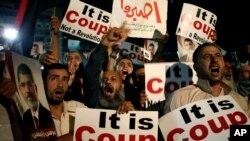 Misrda hokimiyatdan ag'darilgan prezident Muhammad Mursiy tarafdorlari