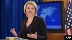 美國國務院發言人諾爾特 (資料照片)