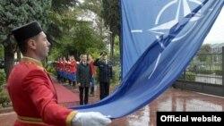 Ceremonija podizanja zastave NATO u Podgorici (gov.me)
