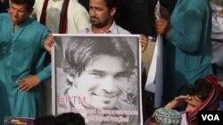 محمد حیات خان پریغال کی گرفتاری کے خلاف مظاہرہ۔