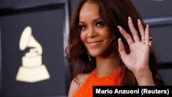 La chanteuse américaine Rihanna, au Grammy awards, à Los Angeles, le 12 février 2017.