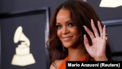 Rihanna aux Grammy Awwards le 12 février 2017.