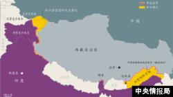 中印边界地图