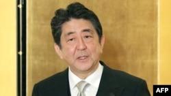 아베 신조 일본 총리가 지난 4일 신년 기자회견을 하고 있다.