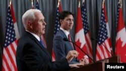 El vicepresidente de Estados Unidos, Mike Pence, se reunió el jueves 30 de mayo de 2019 con el Primer Ministro de Canadá, Justin Trudeau, durante una visita a ese país.