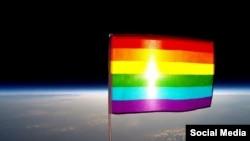 پرچم دگرباشان در جو زمین