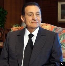 Egyptian President Hosni Mubarak, hosting Israeli-Palestinian talks in Sharm el-Sheikh, 14 Sept 2010.