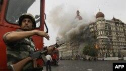 Архив 2008 года: отель, захваченный террористами в Мумбае.