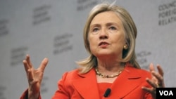Lla secretaria de Estado, Hillary Clinton, dijo que Washington no ve el surgimiento de China como una amenaza.