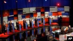 John Kasich, Jeb Bush, Marco Rubio, Donald Trump, Ben Carson, Ted Cruz, Carly Fiorina et Rand Paul