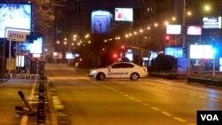 Полицискиот час на сила, улиците празни