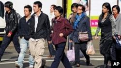澳大利亚中国城里的中国移民(资料照)