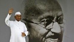 هزاران هندی از فعال ضد فساد پشتیبانی می کنند