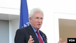 華盛頓智庫和平研究所的所長理查德·索羅曼(和平研究所圖片)