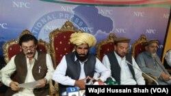 د نقیب مسید پلار محمد خان مسید په مارچ کې په اسلام اباد کې یو مطبوعاتي کانفرنس ته وینا وکړه