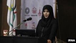 زهرا اینچه درگاهی رئیس فدراسیون ژیمناستیک ایران