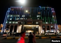 A Chinese casino was seen at the Preah Sihanoukville province, Cambodia Sept. 27, 2017.