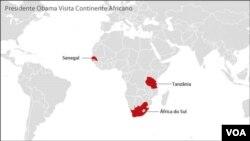 Predsednik Obama će tokom posete Africi posetiti Senegal i Južnoafričku republiku