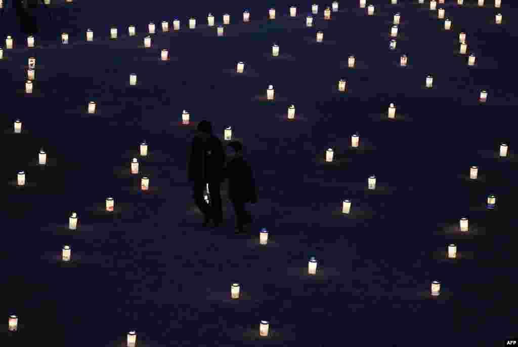 Церемония памяти погибших в Иваки, префектура Фукусима