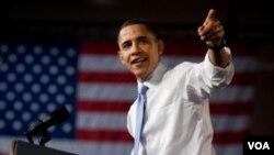 Presiden Obama saat memberikan pidatonya mengenai RUU reformasi layanan kesehatan yang diusulkannya.