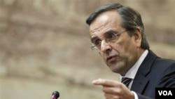 Pemerintahan koalisi pimpinan PM Antonis Samaras mengembangkan usulan revisi terhadap langkah penghematan yang berat (foto: dok).