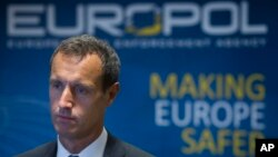 FILE - The head of the European police agency Europol, Rob Wainwright is seen in a Jan. 16, 2015, photo. Wainwright briefed European lawmakers in Brussels Thursday on new terror threats in the wake of last week's Paris attacks.