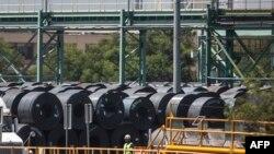 资料照: 墨西哥蒙特利的一家钢厂。(2018年8月27日)