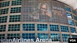 El coliseo American Airlines Arena de Miami fue acondicionado para un recital relativamente reducido con menos de seis mil espectadores.
