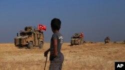 Турецький військовий патруль на півному сході Сирії. 4 жовтня 2019 р.