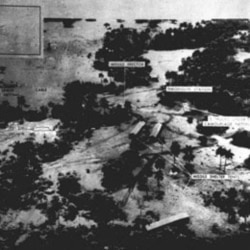A Defense Department photo from October 23, 1962, shows a missile-site project in the San Cristobal area of Cuba