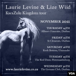 A poster advertising performances by Levine and Wiid (L. Levine)