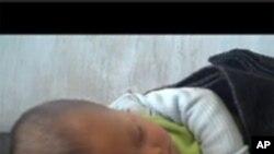 WFP가 공개한 동영상 속 북한 영유아