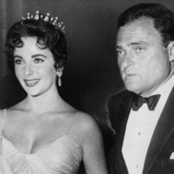 Elizabeth Taylor with her husband Mike Todd in 1957