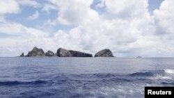 Nhóm đảo trong vòng tranh chấp mà Nhật Bản gọi là Senkaku, còn Trung Quốc gọi là Điếu Ngư (hình chụp ngày 2/9/2012)