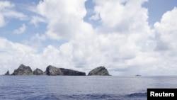 東京都政府考察船2012年9月2日在中日爭執的尖閣群島(釣魚島)水域所拍攝的照片