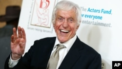 FILE - In this April 24, 2016, file photo Dick Van Dyke attends the 29th Annual Gypsy Awards Luncheon held at the Beverly Hilton Hotel in Beverly Hills, Calif.