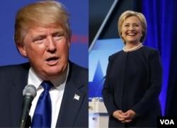 川普(左)克林顿分别赢得佛罗里达党内初选