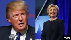 Donald Trump et Hillary Clinton