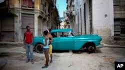 쿠바 수도 아바나의 거리 (자료사진)