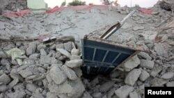 بلوچستان میں زلزلے سے ہونے والی تباہی کا ایک منظر