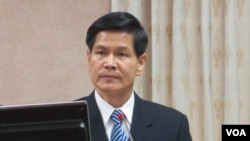 台湾国防部政治作战局长王明我中将(美国之音张永泰拍摄)