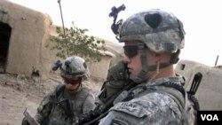 Pasukan AS yang tengah bertugas di provinsi Kandahar, Afghanistan selatan.