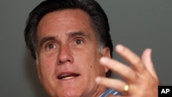 Former Massachusetts Gov. Mitt Romney speaks in Des Moines, Iowa. (file photo)