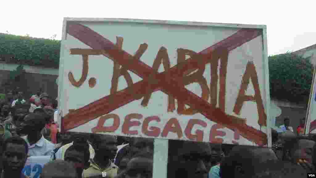 Protesters in Goma, DRC, Nov. 28, 2012 (VOA Photo / Primo-Pascal Rydahigwa)