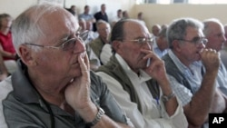 Some white commercial farmers attending a meeting in Harare in this undocumented file photo