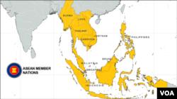 ແຜນທີ່ບັນດາປະເທດ ASEAN