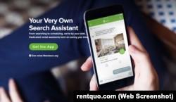 A screenshot of Quo's website.